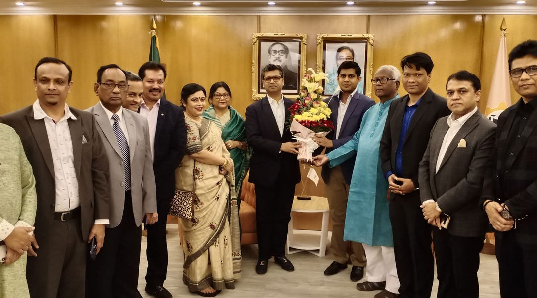 BCCCI delegation led by BCCCI President Mr. Gazi Golam Murtoza meet with Mr. Sheikh Fazle Fahim hon'ble President of Federation of Bangladesh Chambers of Commerce and Industries