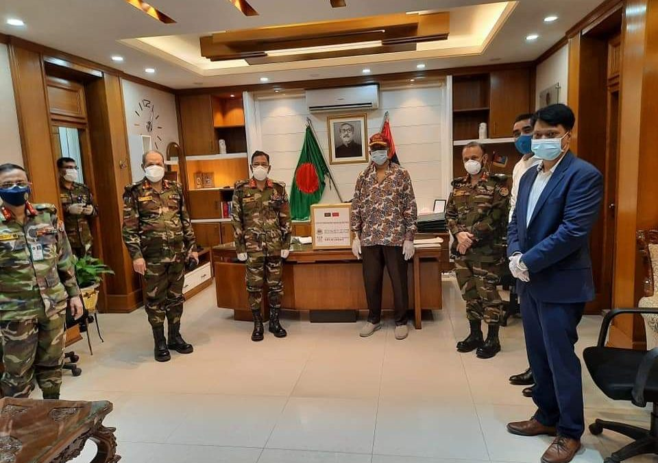 BCCCI and Bank of Huzhou, Zhejiang Province, China distributed 15,000 Nos. of Face Masks to Bangladesh Army